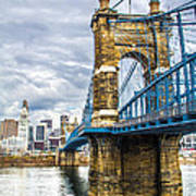 Ohio River Bridge Art Print