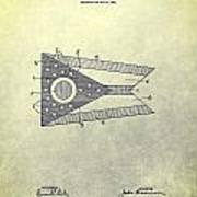 Ohio State Flag Design Art Print