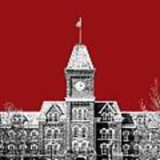 Ohio State University - Dark Red Art Print
