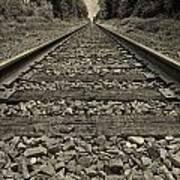 Ohio Train Tracks Art Print