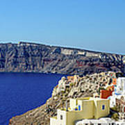 Oia Panoramic, Santorini, Greece Art Print