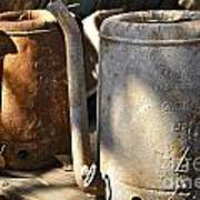 Oil Cans Picking Art Print