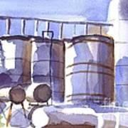Oil Depot In April Art Print