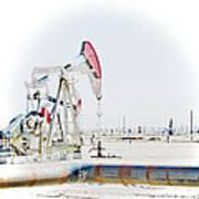 Oil Field Art Print