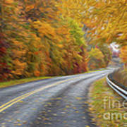 Oil Painted Country Road Art Print