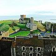 Oil Painting - Aerial View Of Dover Castle Art Print