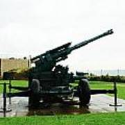 Oil Painting - Anti Aircraft Gun At Dover Castle Art Print