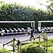 Oil Painting - Stationary Battery Powered Tourist Transport Vehicle Inside The Jurong Bird Park Art Print