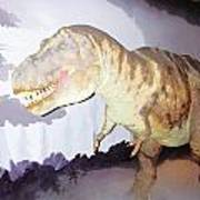 Oil Painting - Thankfully This T Rex Is A Dummy Art Print