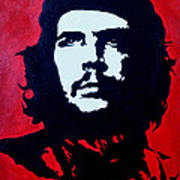 Original Oil Painting Art -ernesto Guevara#16-2-5-30 Art Print
