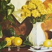 oil painting print of art for sale Golden Lemons  Art Print