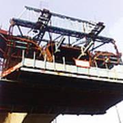 Oil Painting - Bridge As A Part Of Construction Art Print