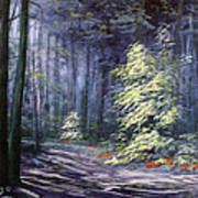 Oil Painting - Forest Light Art Print