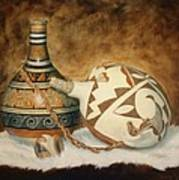 Oil Painting - Indian Pots Art Print