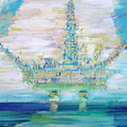 Oil Platform Art Print