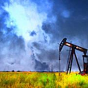 Oil Pump Field Art Print