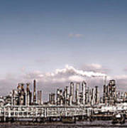 Oil Refinery Art Print