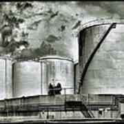 Oil Storage Tanks 1 Art Print
