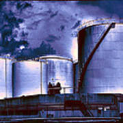 Oil Storage Tanks 2 Art Print