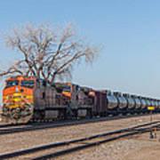 Bnsf Oil Train In Dilworth Minnesota Art Print