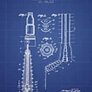 Oil Well Reamer Patent From 1924 - Blueprint Art Print