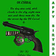 Ok Corral 10 Of 16 Happy Bithday Art Print