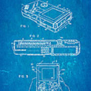 Okada Nintendo Gameboy 2 Patent Art 1993 Blueprint Art Print