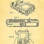 Okada Nintendo Gameboy 2 Patent Art 1993 Art Print