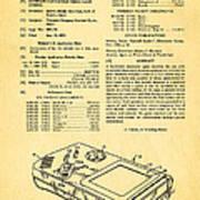 Okada Nintendo Gameboy Patent Art 1993 Art Print