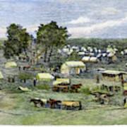 Oklahoma City, 1889 Art Print