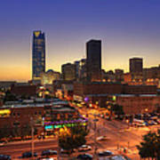 Oklahoma City Nights Art Print