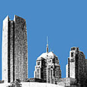 Oklahoma City Skyline - Slate Art Print