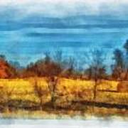 Oklahoma Hay Rolls Photo Art 03 Art Print