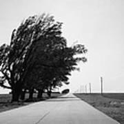 Oklahoma Route 66 2012 Bw Art Print