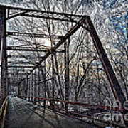 Ol' Iron Bridge Of Dark Hallow Art Print