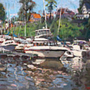 Olcott Yacht Club Art Print