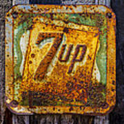 Old 7 Up Sign Art Print