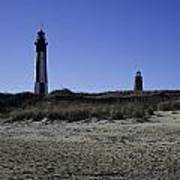 Old And New Cape Henry Lighthouse Art Print