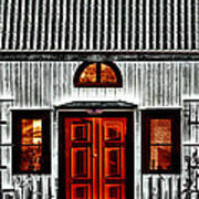 Old Antique Wooden House Art Print