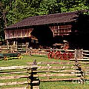 Old Appalachian Farm Cantilevered Barn Art Print