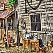 Old Bait Shop And Antiques Art Print