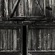 Old Barn Door - Bw Art Print