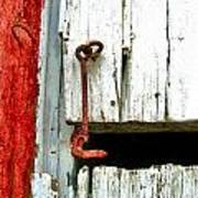 Old Barn Door Hook Art Print by Julie Dant