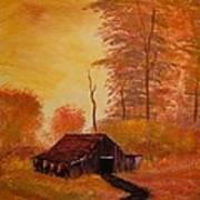 Old Barn In Autumn Art Print