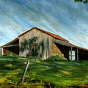 Old Barn Landscape Art Pleasant Hill Louisiana  Art Print