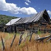 Old Barn Las Trampas New Mexico Art Print