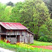 Old Barn Near Willamson Creek Art Print