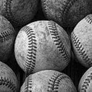 Old Baseballs Art Print by Garry Gay