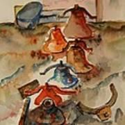 Old Bells To Pasture Art Print