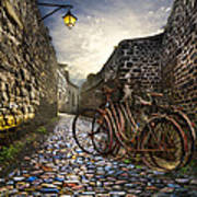 Old Bicycles On A Sunday Morning Art Print